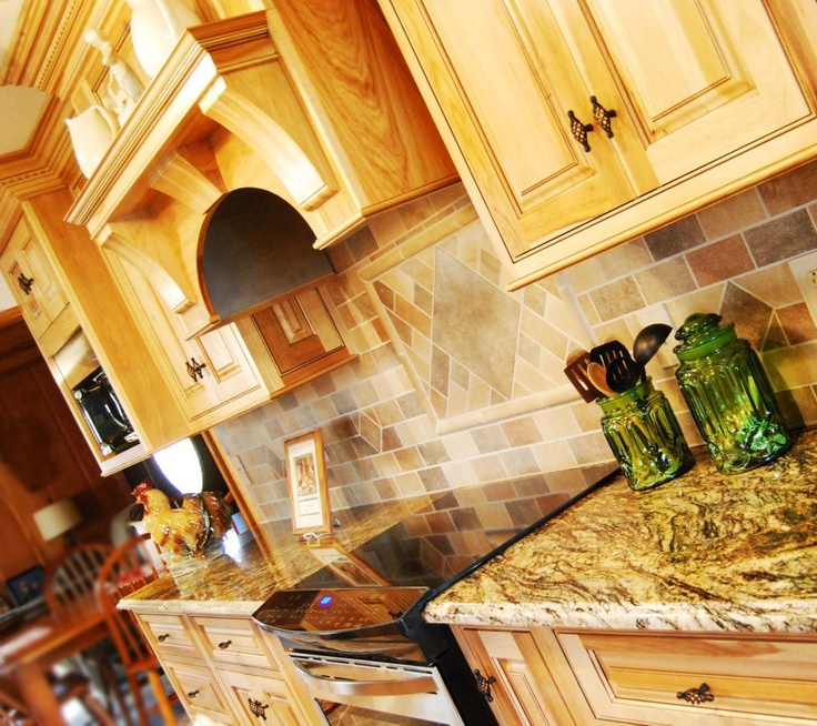 Kitchen Backsplash Hickory Cabinets best 25+ hickory kitchen ideas on pinterest   rustic hickory