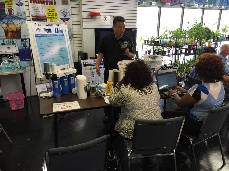 Mr. Edmund Chun giving valuable information on the home alkaline water system.