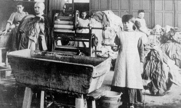 Slaved: An estimated 10,000 were sent to work for no remuneration in 'Magdalene laundries' over a period of 70 years