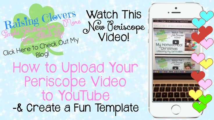 Periscope #4 HOW TO UPLOAD YOUR PERISCOPE TO YOUTUBE & CREATE A FUN TEMP...