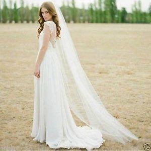 Wedding Chapel Length Veil Sweep Veil  bridal floor length veil.