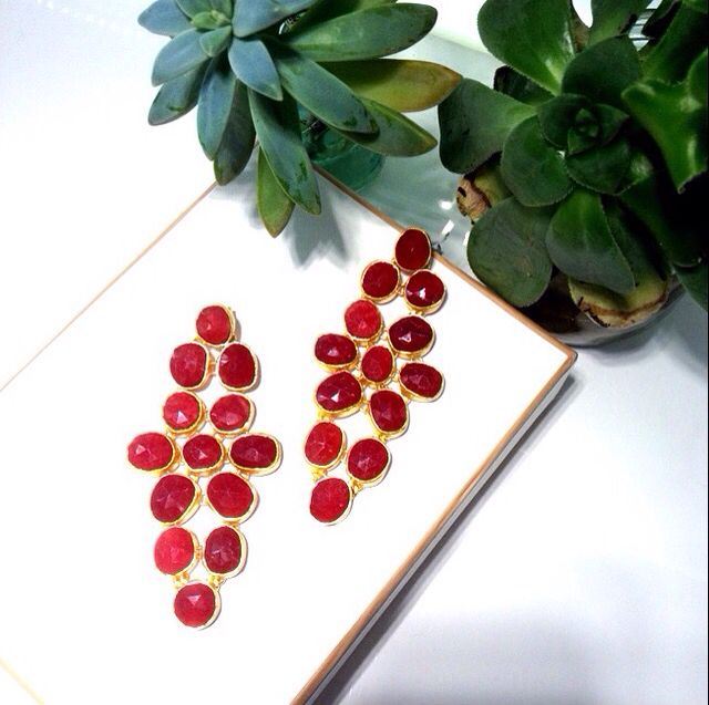 Dream red earrings from Bianc.
