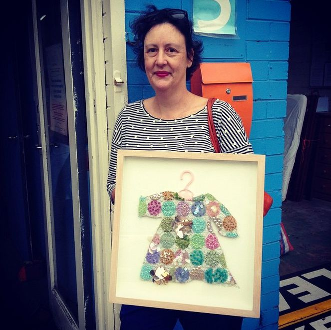 Melanie Hill just popped in with a piece she has kindly donated for our Art Show. Thank you Melanie!
