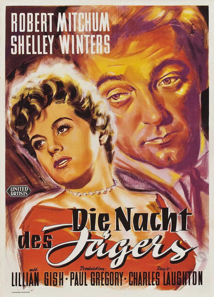 Night of the Hunter German poster
