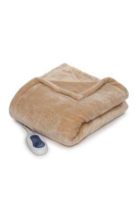 Sleep Philosophy  Heated Throw Blanket - Vanilla - 50 X 60