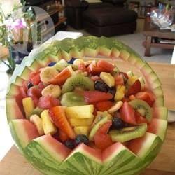 Fruit Salad in a Watermelon Bowl @ allrecipes.com.au