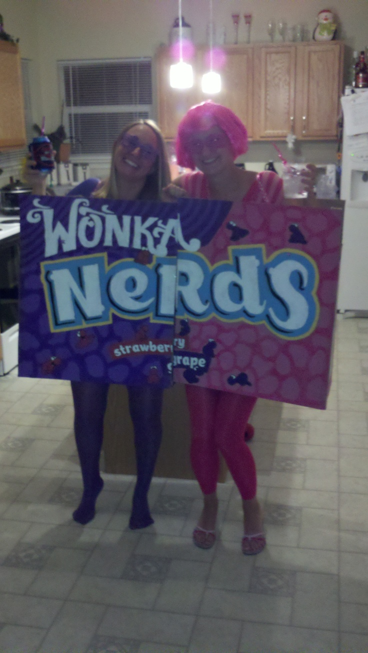 Nerds Candy costume made from moving boxes