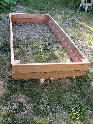 DIY Garden Box - great for patio's and yards with clay soil.
