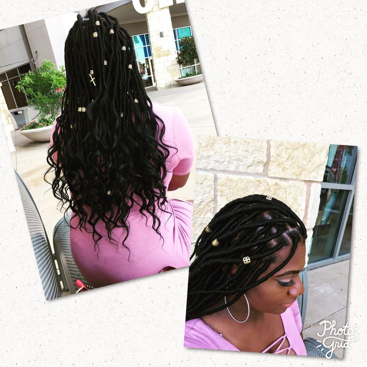 When you slay your own goddess faux locs #fauxlocs #protectivestyles #locextensions #locs #natural #naturalstyle #naturalhair #goddesslocs #naturalhairstyles #naturalhairrocks #naturalhaircare
