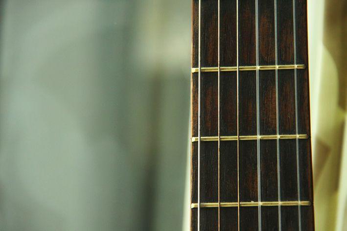 Alle hytter må ha gitar. Her er vår.