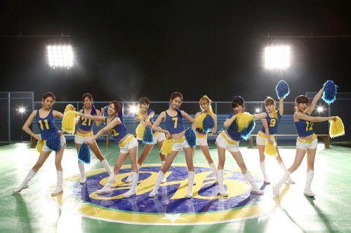 Cheerleading Girl Generation Cosplay Costume  http://cosplaysushi.com/collections/cheerleading/products/girl-generation-cheerleader-cosplay-costume