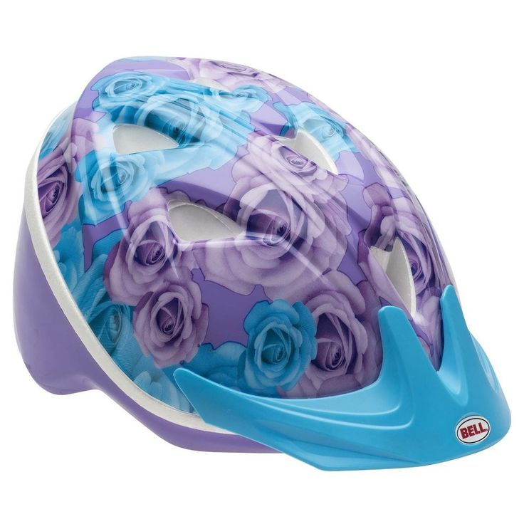Bell Sprite Roses Toddler Bike Helmet - Purple/Blue