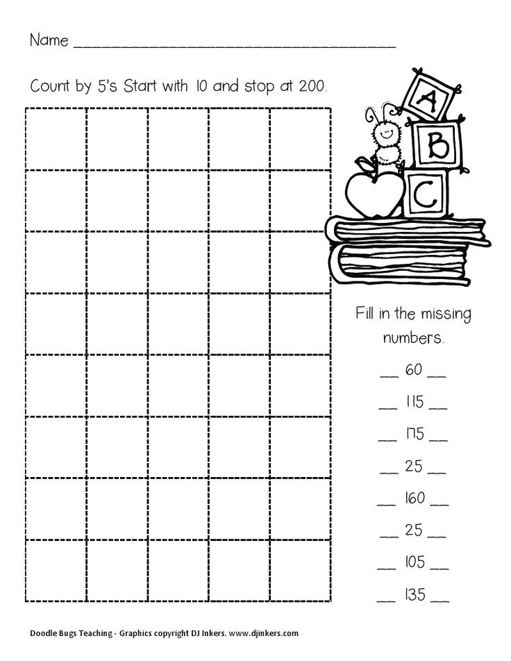 djinkersmathsheets.pdf Counting in 5s, Dj inkers, Teaching