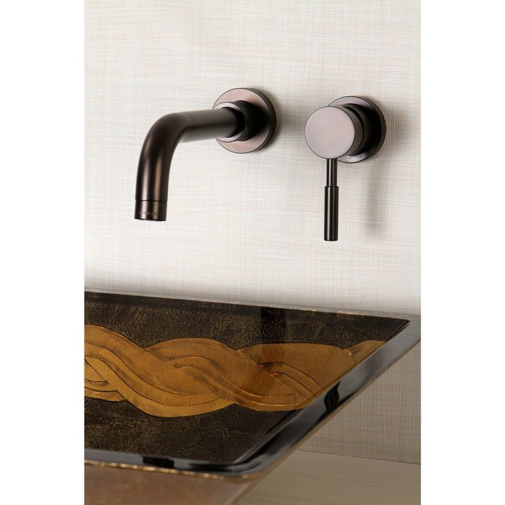 enhance the decor in your bathroom with this oilrubbed bronze bathroom faucet this