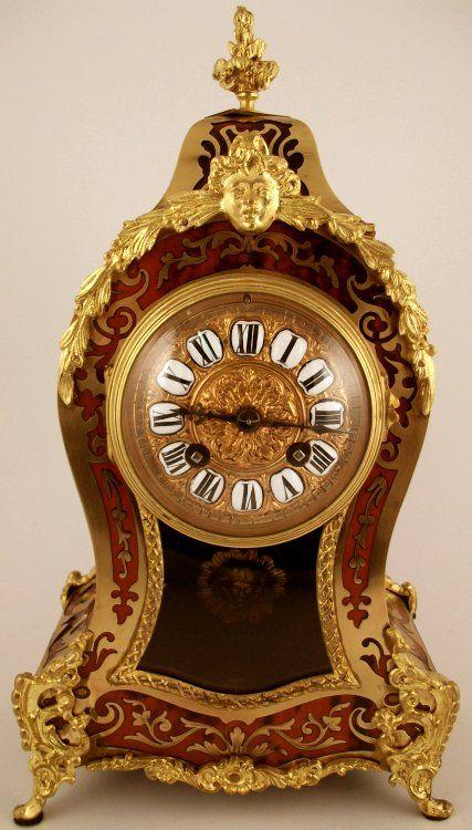 antique clocks | Antique French Boulle Mantel Clock