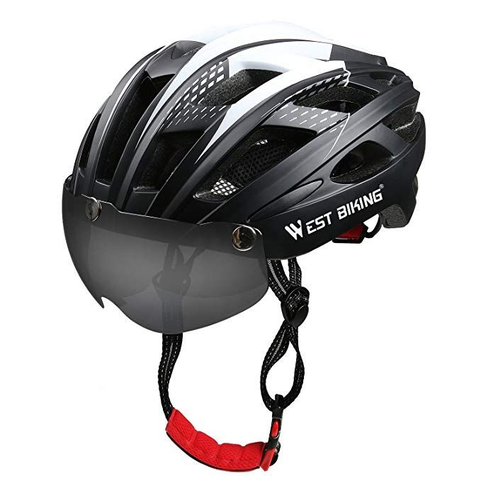 Icocopro Bike Helmet With Detachable Magnetic Visor Shield Goggles