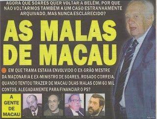 JornalQ.com - Mário Soares, Macau, Angola e o tráfico de diamantes