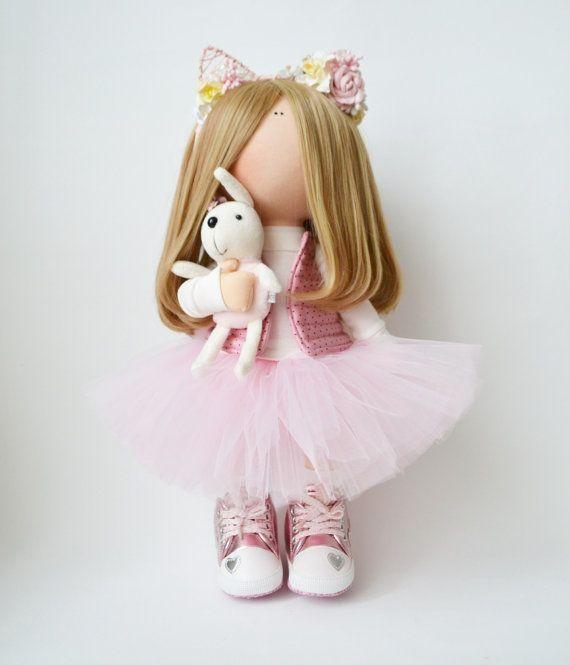 Textile doll Handmade doll Fabric doll by AnnKirillartPlace