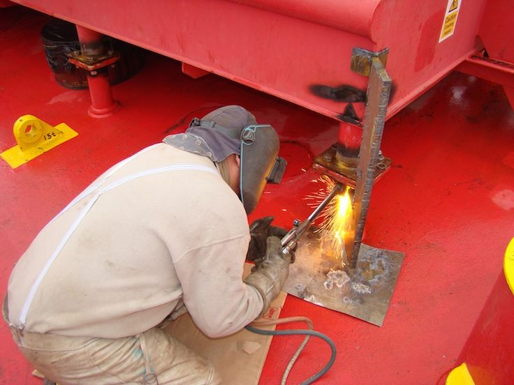 Welding is done constantly in maritime and involves gas, fire, sparks; flammable combination which needs careful address.