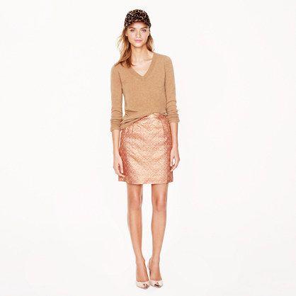 COLLECTION SALON MINI IN QUARTZ JACQUARD: amazing skirt for Fall