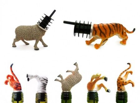 Animal Wine Stoppers - LOL