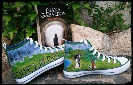 Zapatillas pintadas a mano: Outlander