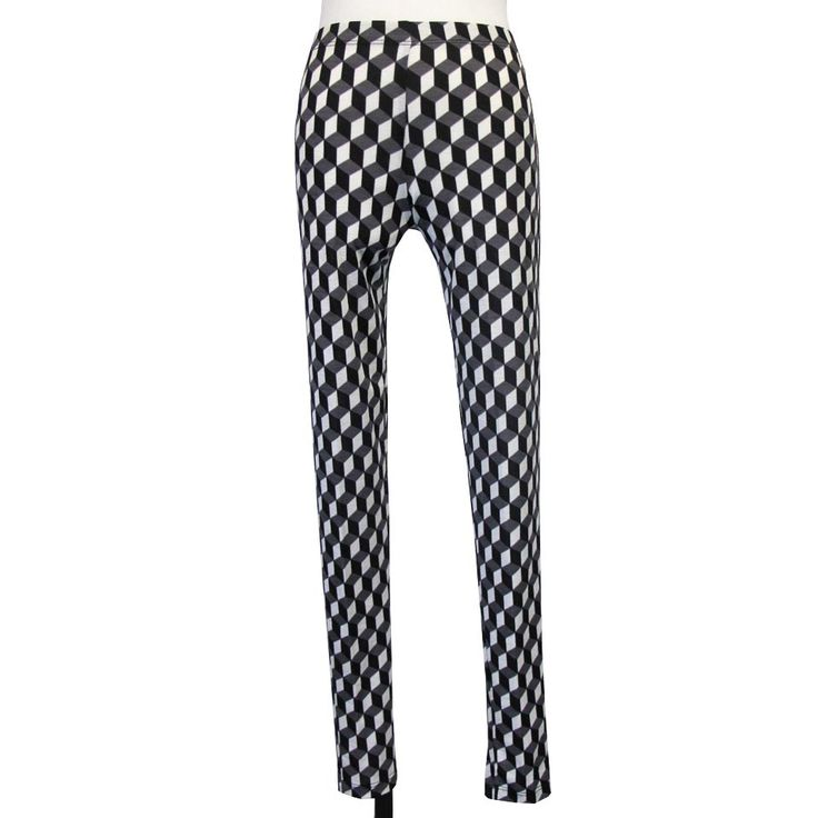 SALE! Long Legging in Cube Print by Comfy USA