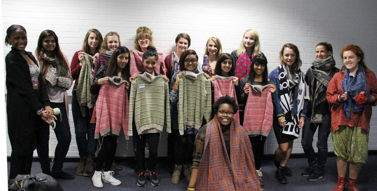 The students with their creations! #jumpers #scarf's #knitting
