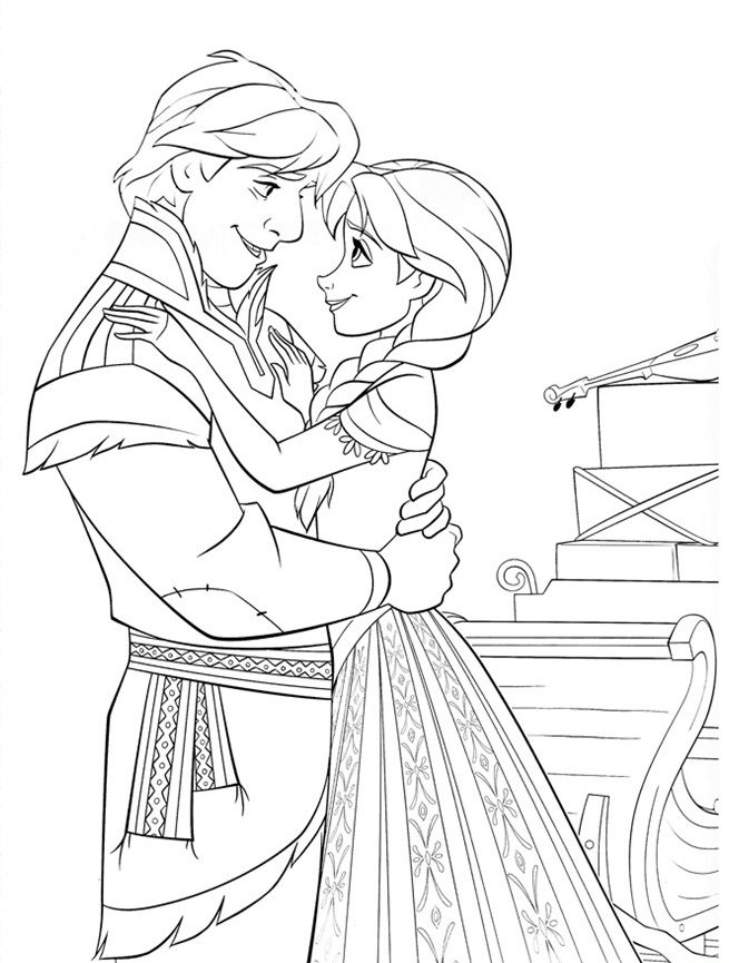 kids christmas coloring pages frozen - photo#15