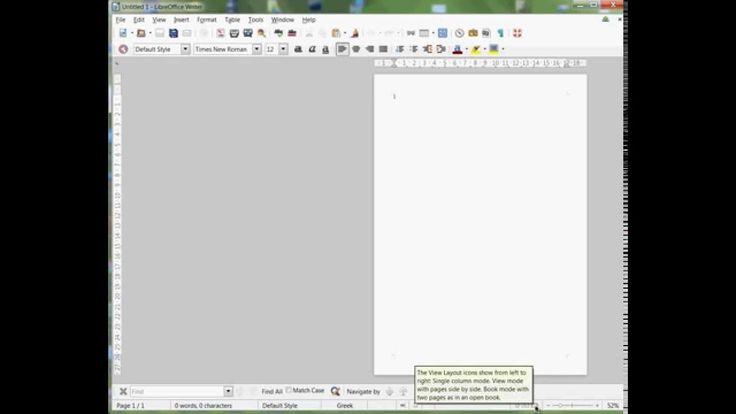 Περίεργη ευθυγράμμιση ή στοίχηση σελίδας στο Libre Office (layout)