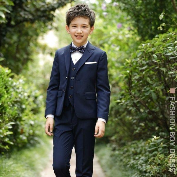 5 Pcs Boy S Suit Formal Children Wedding Party Suit Boy Dress Shirt Vest Cravat Boys Suits Black Blue Red Wish Kids Dress Boys Kids Dress Shirts Boys Dress Shirts