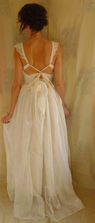 Boho Fern Bustier Wedding Gown