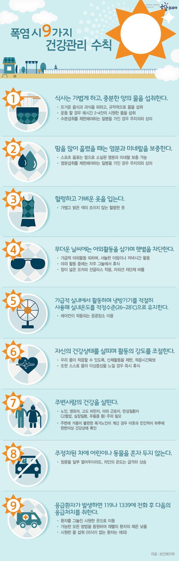 이른 무더위, 폭염 속 건강한 여름나기! (출처: 공감코리아 www.korea.kr)
