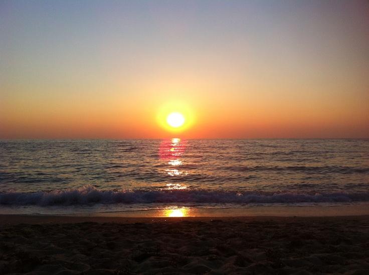 Sunset. Pefkoulia beach, Lefkada, Greece
