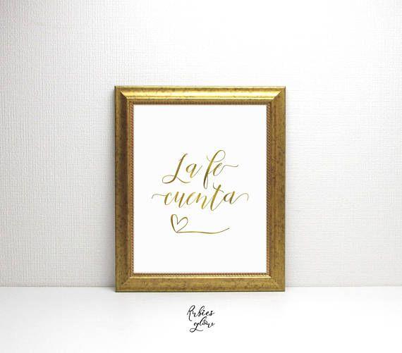La Fe Cuenta Faith Citas Espanol Spanish Feminine Gold