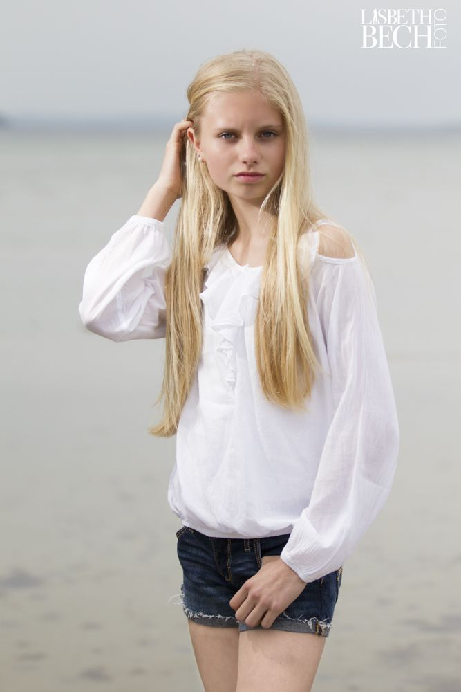 Young girl at the beach