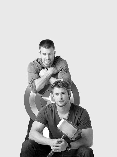 Capitan America and Thor