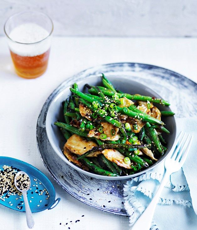 Recipe: Miso chicken and green beans with sesame :: Gourmet Traveller