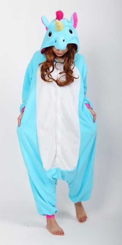 Blue unicorn onesies - MY HALLOWEEN COSTUME ❤️❤️❤️
