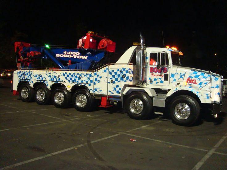 "Bob's Towing, El Monte CA - Kenworth T800 Twin Steer w/ B&B 80 ton rotator (""Tiny"")"