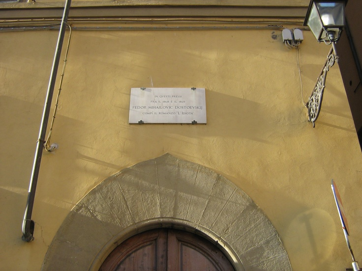 dove Fëdor Michajlovič Dostoevskij compì l'Idiota - Piazza de' Pitti, Firenze
