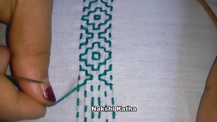 Hand Embroidery Nakshi Katha New Design video tutorial.