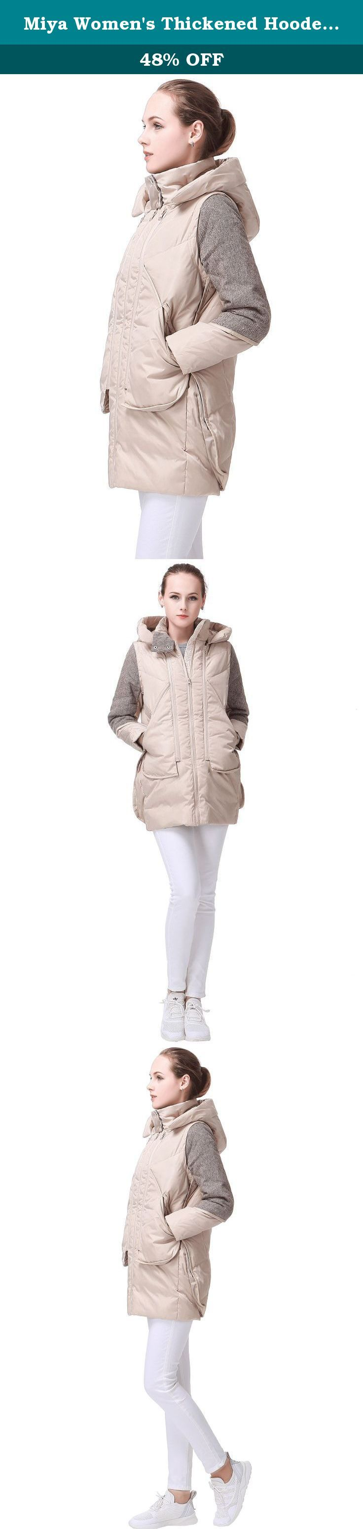 Miya Women's Thickened Hooded Down Jacket Women Long Overcoat For Women Coat. On the choice of size: please refer to the size table to choose to buy, please do not choose according to their own experience size. (Size error in 1INCH is normal, if in between the two sizes, recommended to choose a larger size) NAME:Hooded high thin women down jacket Item Type: Coats Component:100% nylon Colors:Black/Pale/Beige/Blue SIZE:(IN) Size of China, please look at the description size. Size S Length...