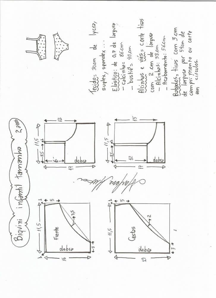 Patrón Biquini infantil | costura patronaje diseño | Pinterest ...
