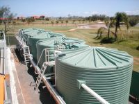 Ozzi Kleen Waste water treatment plant - recycling treated sewage for irrigation - On-site sewage treatment plan at resort - housing estate