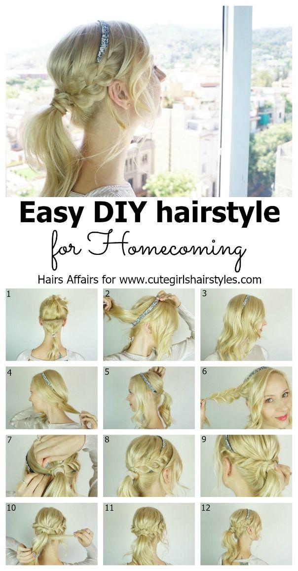 awesome Einfache DIY Heimkehr Frisur