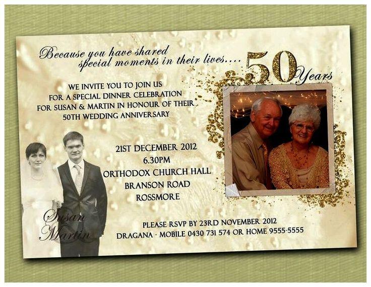 50mo aniversario de boda Invitaciones plantillas de Ideas (invitaciones del aniversario de boda)