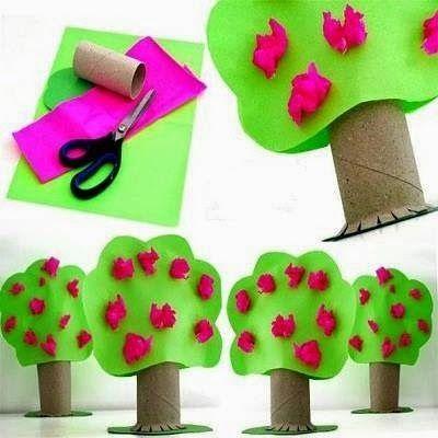Árvore de rolinho de papel higiênico - Educar Atividades