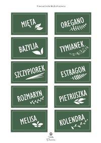 Etykiety na zioła w doniczkach - Słodka Pracownia - Przepisy | Dekoracje | Przyjęcia