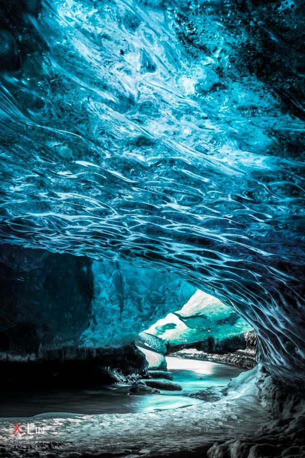 Crystal Cave river exit :: Vatnajokull National Park on the East coast of Iceland...g